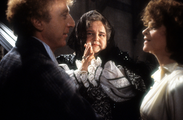 Gene Wilder, Dom DeLuise and Gilda Radner in a scene from the film 'Haunted Honeymoon', 1986. (Photo by Orion/Getty Images)